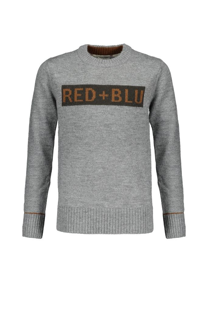 202 RED+BLU B SWEAT DONKER GRIJS