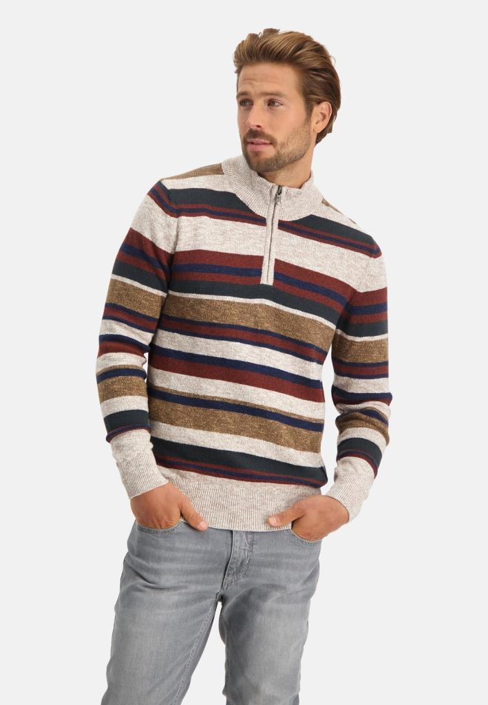 202 STATE OF ART M PULL 1629-Pullover Sportzip St