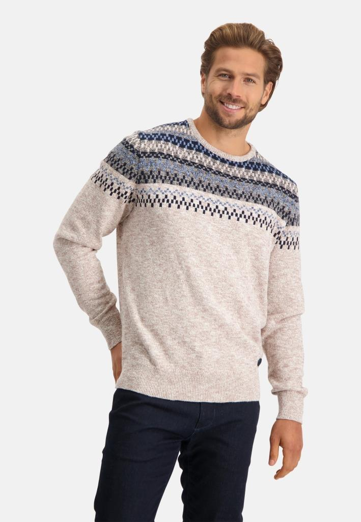 202 STATE OF ART M PULL 1756-Pullover Crew-Neck –