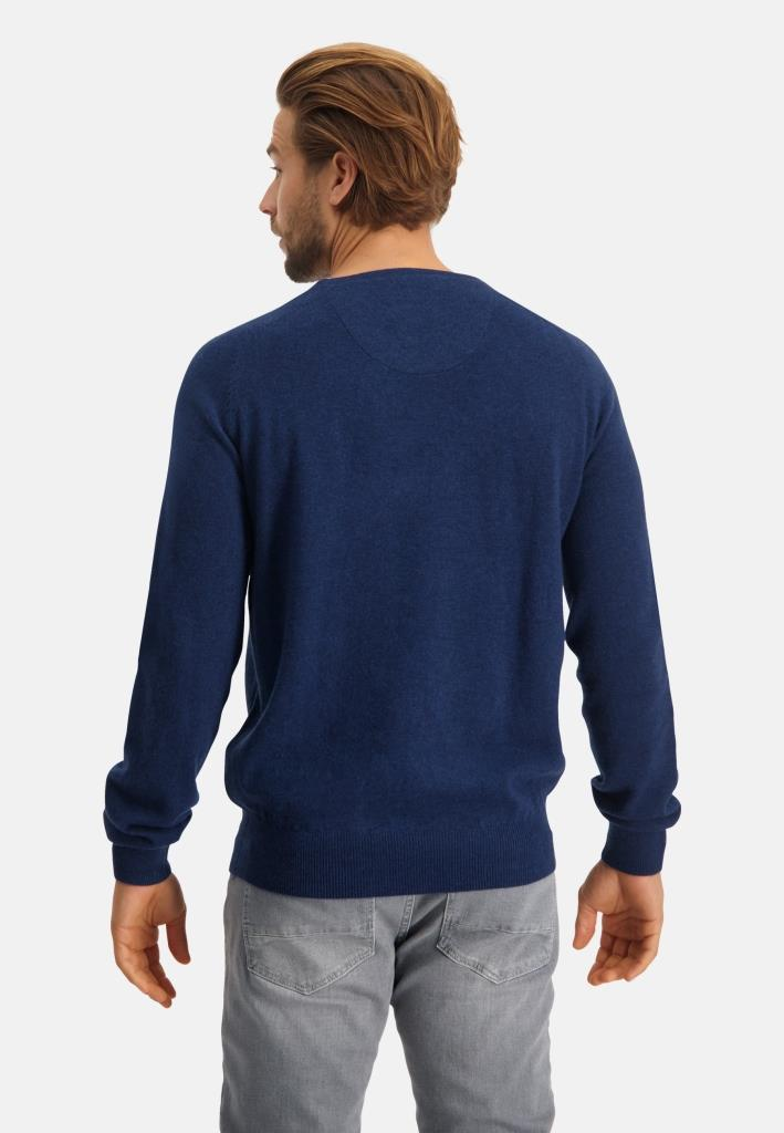 202 STATE OF ART M PULL 5700-Pullover V-Neck Plai