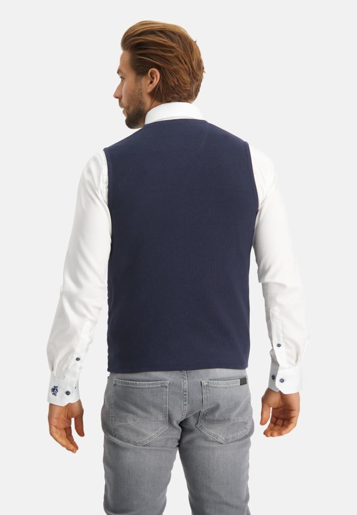 202 STATE OF ART M GILE 5900-Knitted Gilet Plain