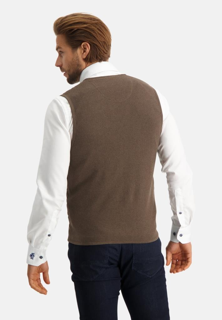 202 STATE OF ART M GILE 8900-Knitted Gilet Plain