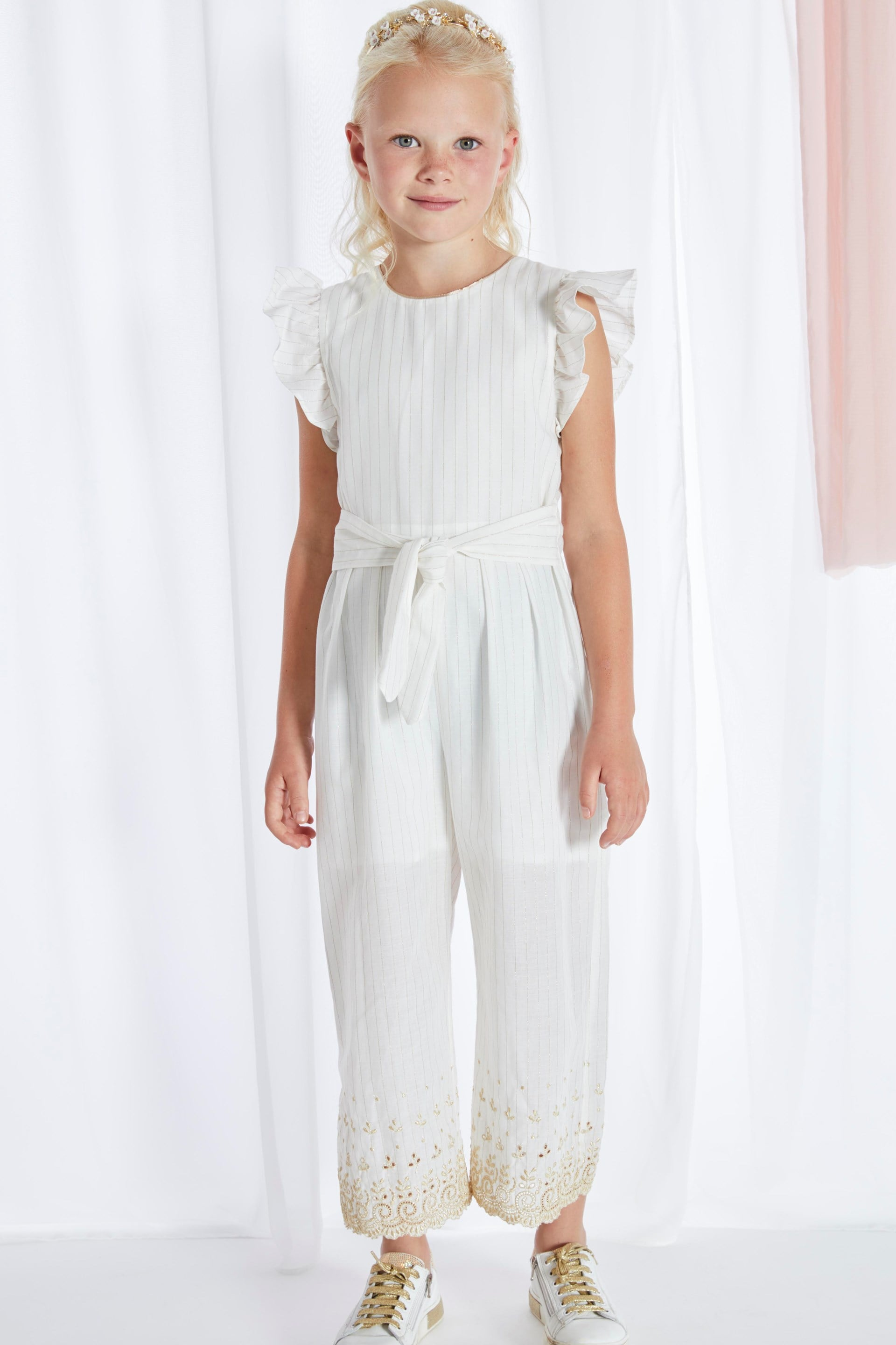 211 BLUE BAY G G JUMPSUIT OFF WHITE
